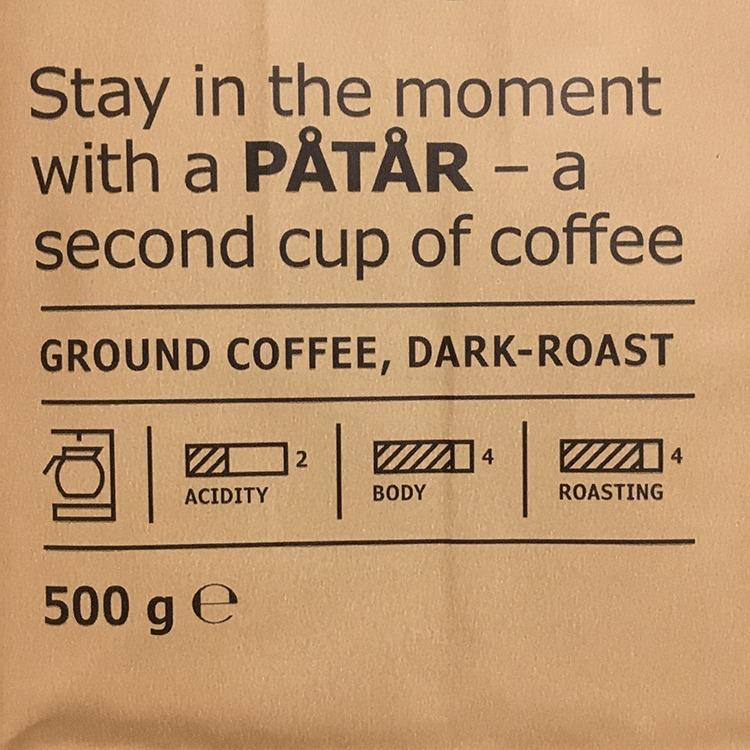 IKEA(イケア)ダークローストコーヒー ACIDITY, BODY, ROASTING 酸味,ボディ,焙煎度